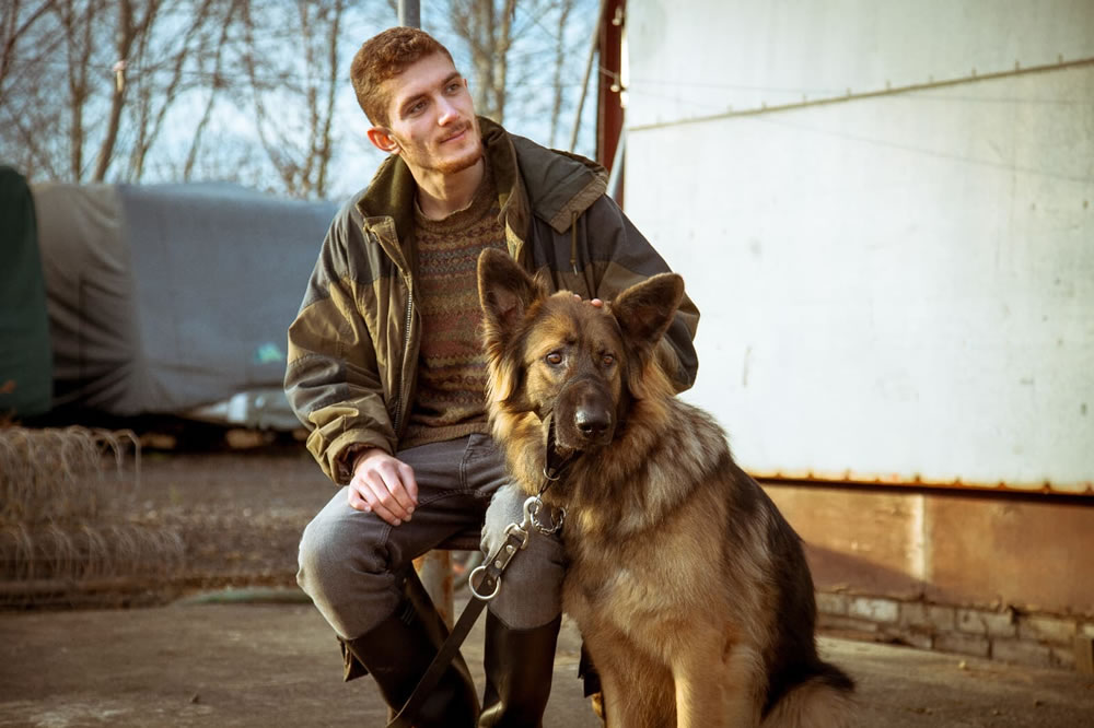 Andrei and dog